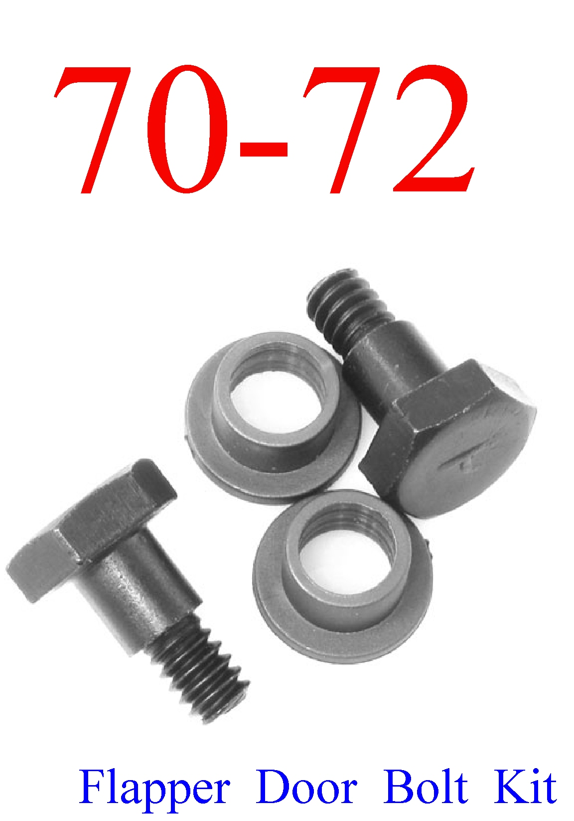 70-72 Chevy Chevelle SS 4Pc Flapper Door Bolt Kit